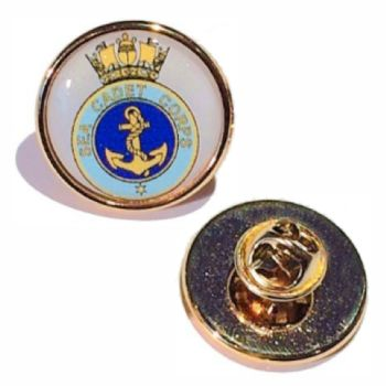 23mm premium quality gold pin badge